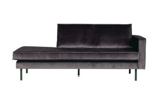 Rodeo daybed right velvet antraciet