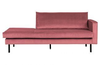 Rodeo daybed right velvet pink