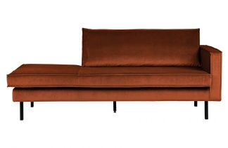 Rodeo daybed right velvet rust