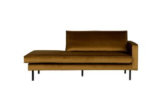 Rodeo daybed right velvet honiggelb