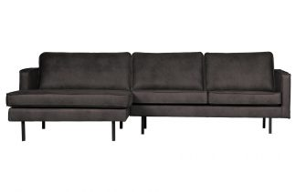 Rodeo chaise longue links schwarz