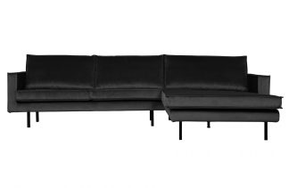 Rodeo chaise longue rechts velvet anthracite