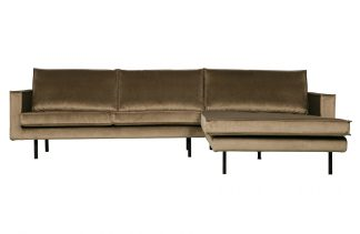 Rodeo chaise longue rechts velvet taupe