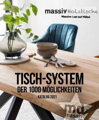 Massive Holztische Katalog Seite 1